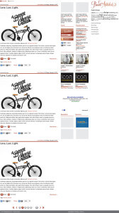 BrandAddicted website design layout