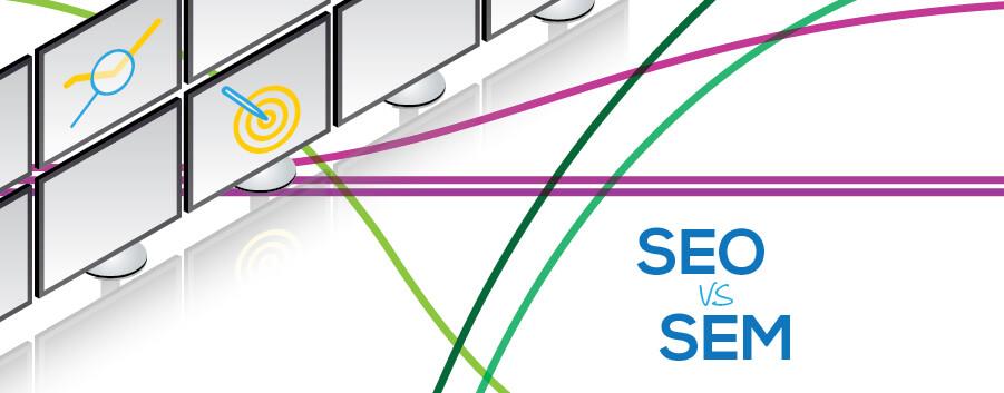 SEO vs SEM infografica, guida simpliza - copertina