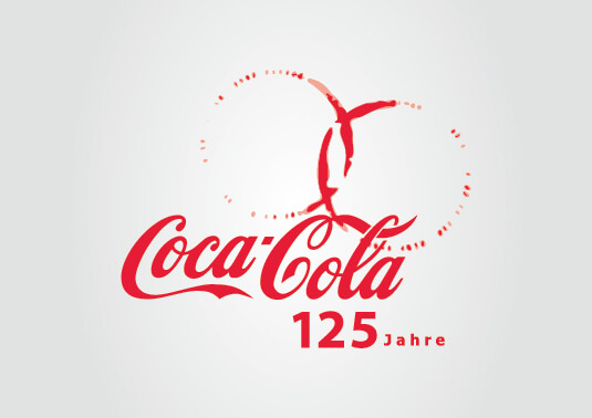 Coca Cola - Logo definitivo vincitore dell'appalto indetto da Coca Cola Germany per il 125esimo anniversario