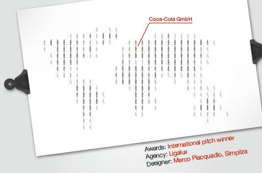 Coca Cola - Logo vincitore pitch internazionale