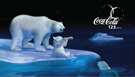 Coca Cola - Orso polare mamma e figlio - pubblicità
