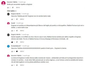 Commenti YouTube Rabbia Furiosa - Er Canaro